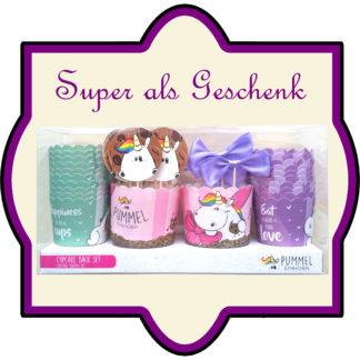 Cupcake Back-Set Pummeleinhorn