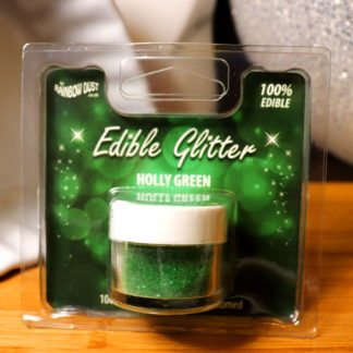 Edible Glitter Holly Green